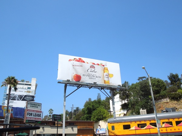 Introducing Stella Artois Cidre billboard Sunset Strip