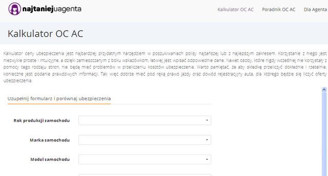 http://najtaniejuagenta.pl/kalkulator-oc-ac/