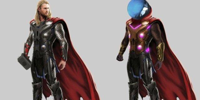 Concept Art de Mysterio se parece mucho al de Thor