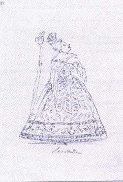 Caricature of Anna Strada by Antonio Maria Zanetti