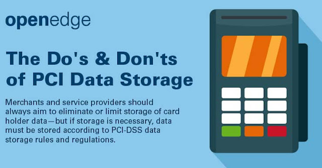 Do's and Don'ts of PCI Data Storage #infographic