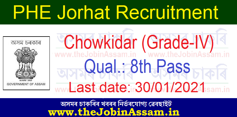 PHE Jorhat Recruitment 2021: