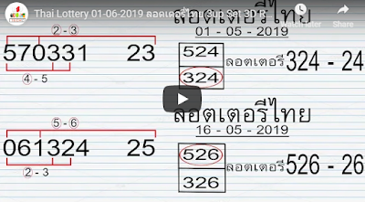 Thai Lottery 01 June 2019 ลอตเตอรี่ไทย 3up Set 3D Sure Winning Trick