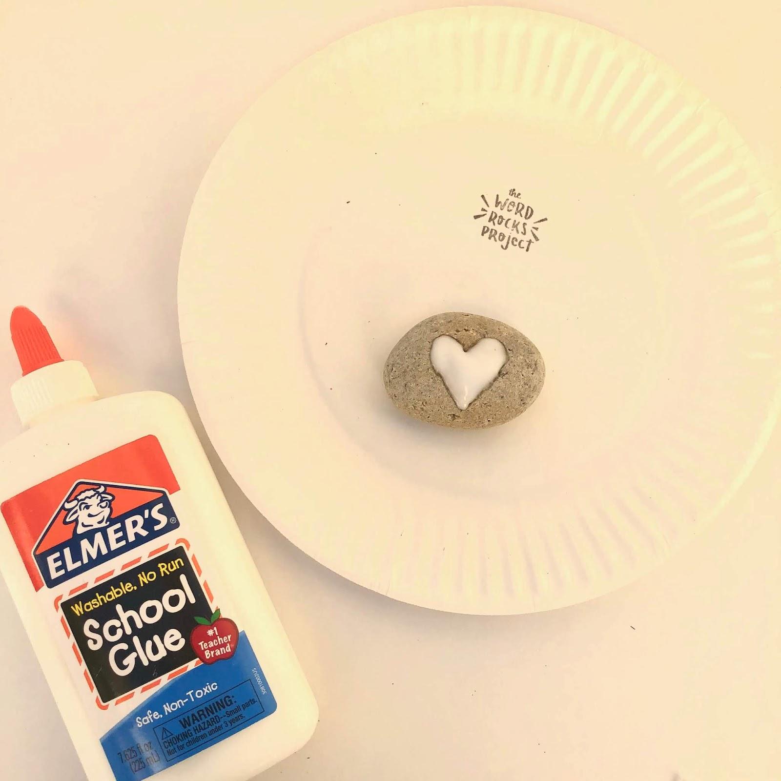 Glitter Heart Rocks