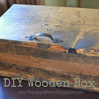 Wood Box by Over The Apple Tree