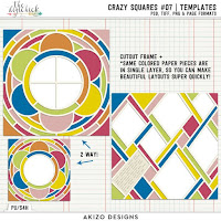 Template : Crazy Squares 07 by Akizo Designs