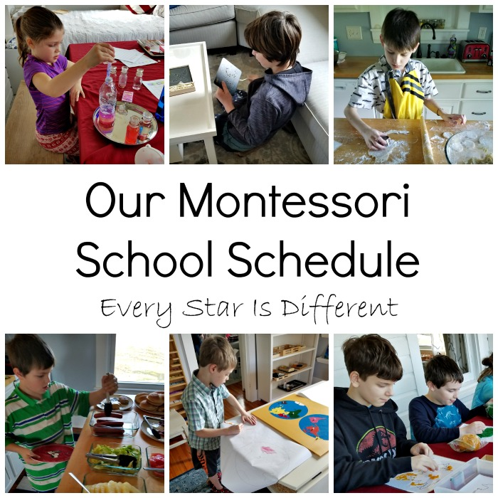 Our Montessori Co-op School Schedule