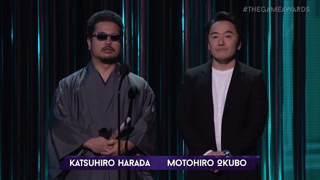 The Game Awards 2017 Bandai Namco Katsuhiro Harada Motohiro Okubo sunglasses Japanese fan