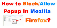 how to allow pop ups in Mozilla Firefox