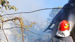 Pompierii Calafeteni au intervenit pentru stingerea unui incendiu în comuna Ciupercenii Noi