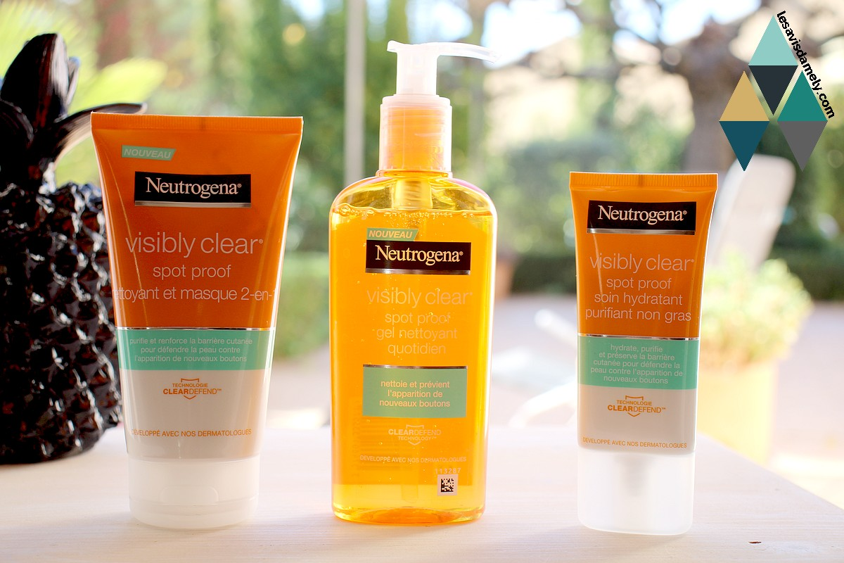 avis et test visibly clear spot proof neutrogena