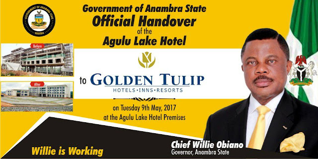 (Photos) Handover Of Agulu Lake Hotel To Golden Tulip By Anambra Governor Obiano  Agulu%2Blake