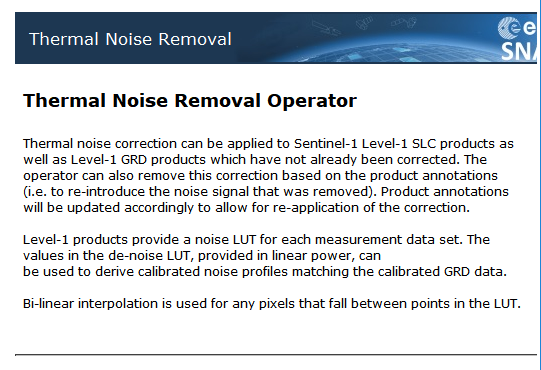 Young: Difficult 4 days of Big Problem of Noise Removal of Sentinel