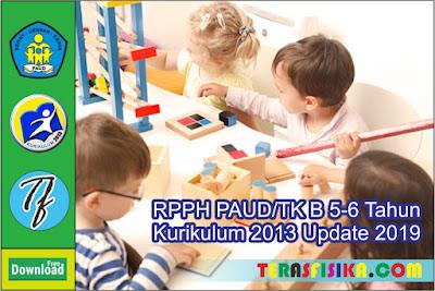 RPPH PAUD/TK B Usia 5-6 Tahun Kurikulum 2013 Semester 1