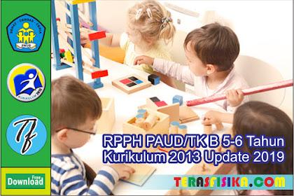 RPPH PAUD/TK-B 1 Lembar Usia 5-6 Tahun Semester 2 Minggu 9-16