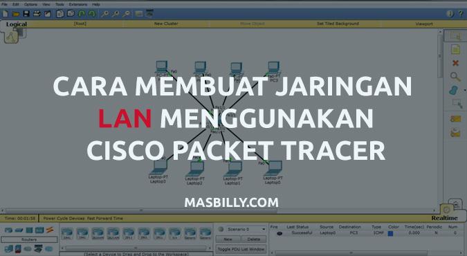 Cara Membuat Jaringan LAN Menggunakan Cisco Packet Tracer (Dasar)