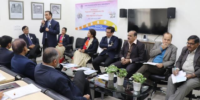 For organizing a three day workshop by Shri Vishwakarma Kaushal University