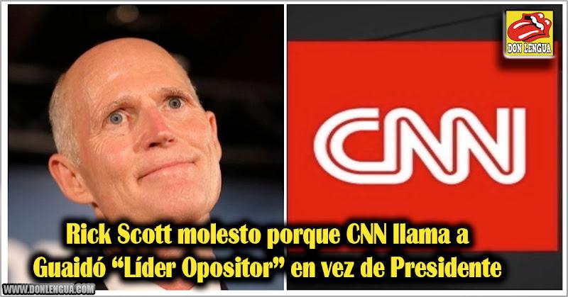 Rick Scott molesto porque CNN llama a Guaidó Líder Opositor en vez de Presidente