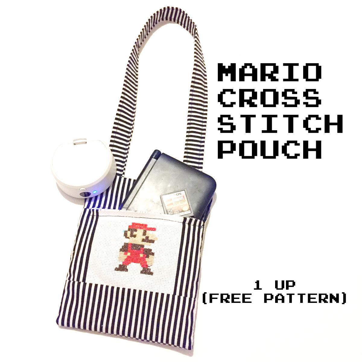 Mario Cross-stitch free pattern | Sewing Mama RaeAnna