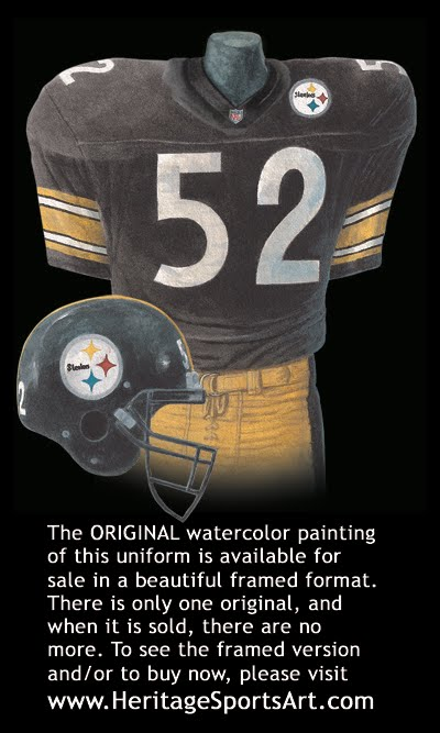 sports shoes 52297 18348 Pittsburgh Steelers Uniform and Team History | Heritage ...