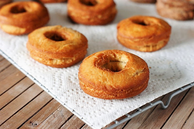Old-Fashioned Doughnuts Cooling on Paper Towels Image