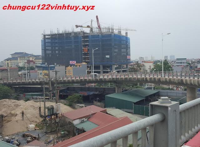 Tiến độ chung cư 122 Vĩnh Tuy