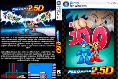 Jogo Mega Man 2.5D PC DVD Capa