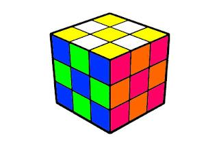 rubik's cube pattern x