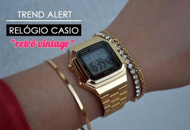 Trend Alert: Relógio Casio Vintage