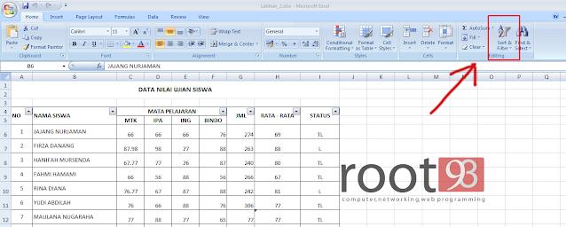 Cara Mengurutkan Nama Secara Otomatis di Excel