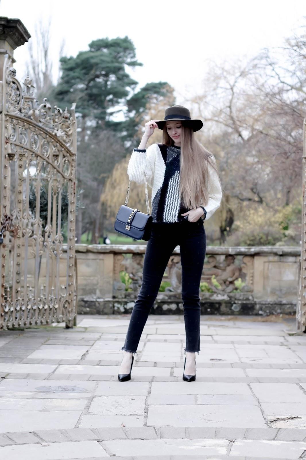 Grey embellished studded jeans frayed denim ankles