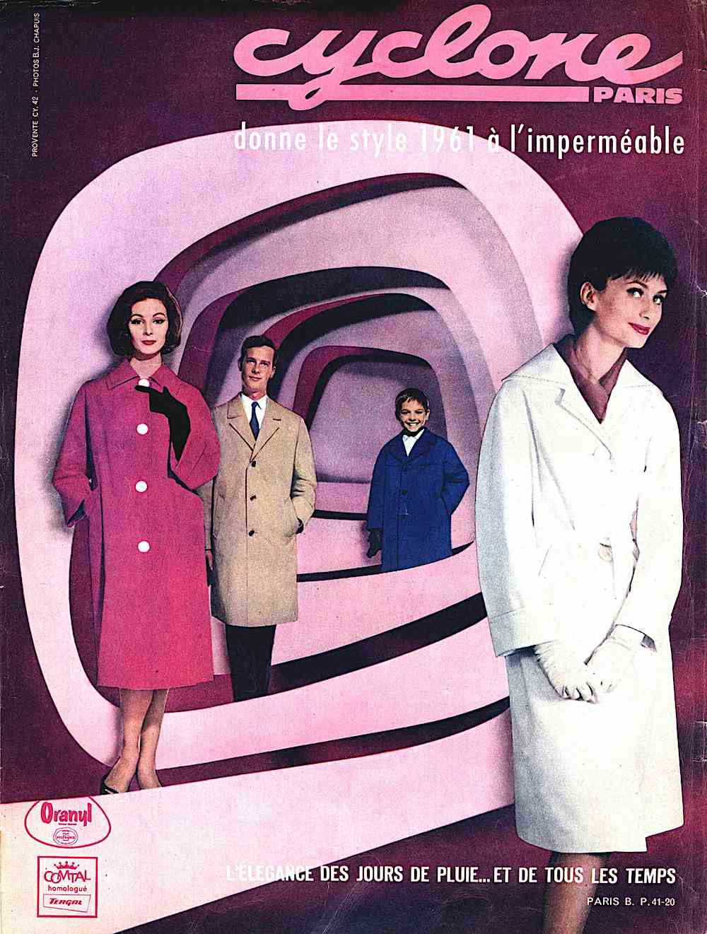 A 1961 Cyclone ad photograph in color for Oranyl & Comtal, Paris