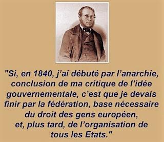 Proudhon anarchie fédéralisme Onfray Isabel