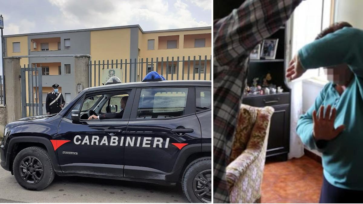 Vizzini Carabinieri violenza madre