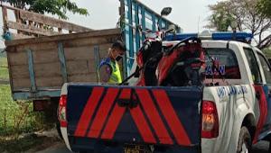 Kecelakaan Sepeda Motor vs Truk di Candisari, Gadis Remaja Tewas Dilokasi