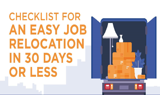 Checklist for an Easy Job Relocation #infographic