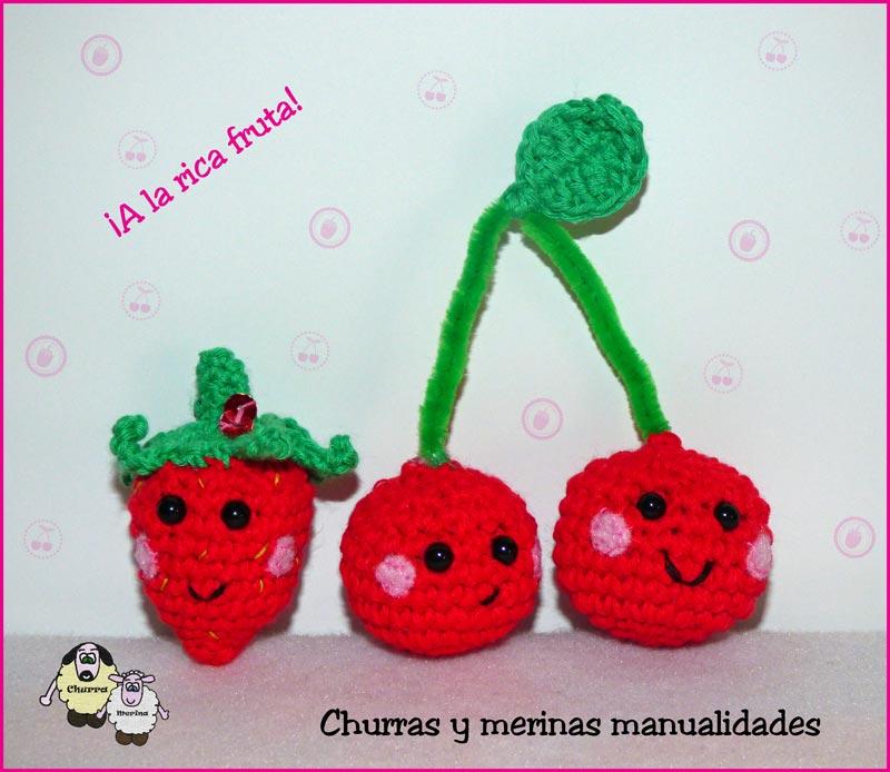 Churras y Merinas Manualidades: Fresa y Cereza amigurumi. Patrón libre.