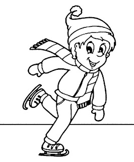 Best Sports Coloring Pages: Ice Skating Coloring Pages