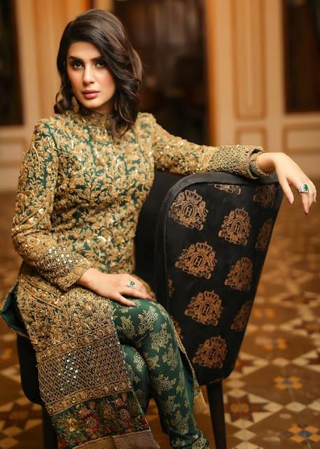 HSY Emerald jacket formal bridal dress