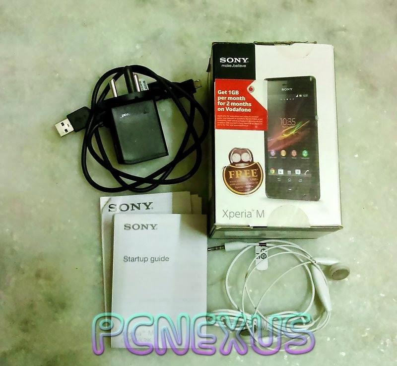 Xperia M box and accessories