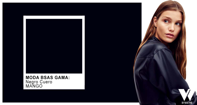 Negro cuero - colores de moda otoño invierno 2021 monocromatico