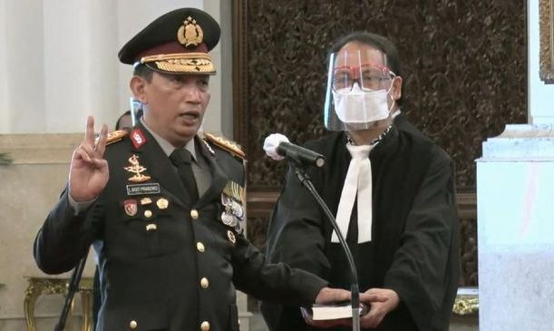 Komjen Listyo Sigit Prabowo Resmi Naik Bintang Empat Jabat Kapolri Hari ini