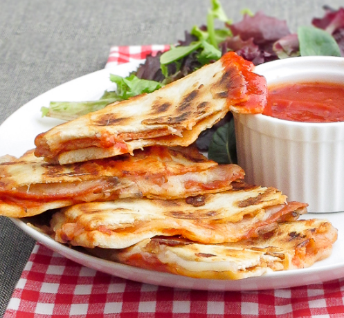 Pepperoni Quesadillas