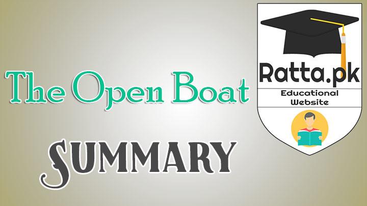 The Open Boat Summary - BA LLB English Notes