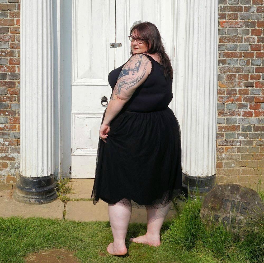 La-Redoute-Castaluna-dotted-plus-size-black-tulle-tutu-skirt-polka-dot-plus-size-occasion-skirt-plus-size-holidaywear-plus-size-wedding-wear