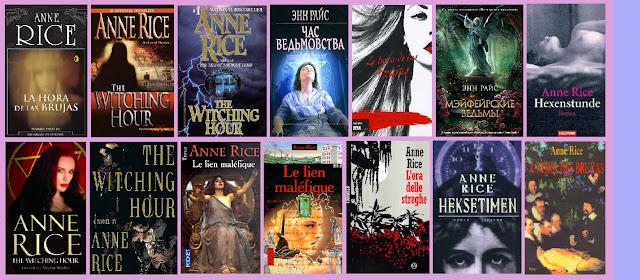 portadas de la novela paranormal La hora de las brujas, de Anne Rice