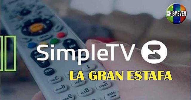 Los Estafadores de SimpleTV le siguen quitando canales a los venezolanos