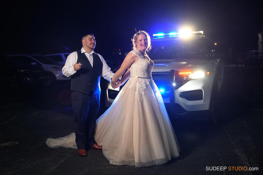 Toledo Police Wedding Fun Blueline Wedding Portrait by SudeepStudio.com Ann Arbor Toledo Wedding Photographer