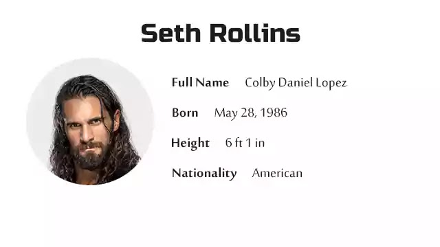 Seth Rollins Biography History Net Worth And More