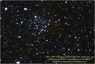 Cumulo abierto y nebulosa NGC 7380
